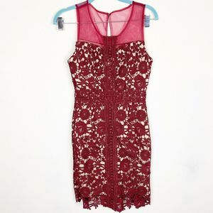 LIZA LUXE MODCLOTH NWT CROCHET SHEATH DRESS XS